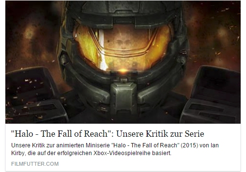 Ulrich Wimmeroth - Halo Fall of Reach - Filmfutter.com