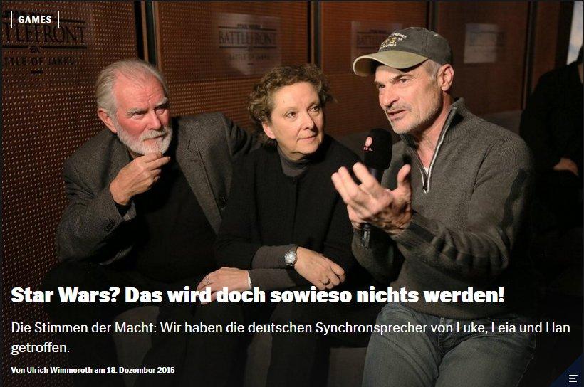 Ulrich Wimmeroth - Interview mit den deutschen Synchronsprechern von Star Wars - Red Bull Games