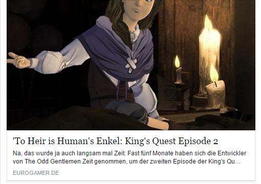 Ulrich Wimmeroth - Kings Quest Episode 2 Vorschau - eurogamer.de