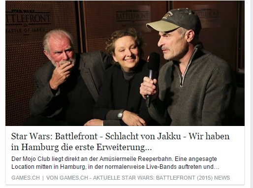 Ulrich Wimmeroth - Schlacht um Jakku - Star Wars Battlefront - Interview Synchronsprecher Krieg der Sterne - games.ch