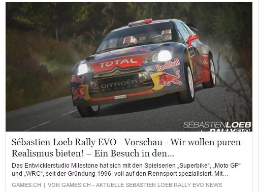 Ulrich Wimmeroth - Sebastien Loeb Rally Evo - Studiobesuch Milestone - games.ch