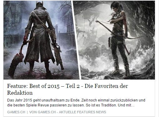Ulrich Wimmeroth - Best of 2015 Teil 2 - games.ch