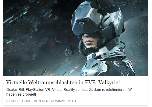 Ulrich Wimmeroth - Oculus Rift EVE Valkyie - Red Bull