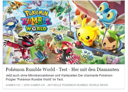 Ulrich Wimmeroth - Pokemon Rumble World  - games.ch