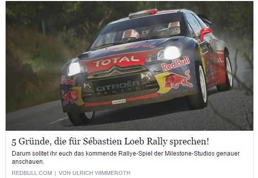 Ulrich Wimmeroth - Sebastien Loeb Rally - Red Bull