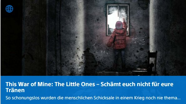 Ulrich Wimmeroth - This War of Mine The little Ones - Playstation Digi-Tal