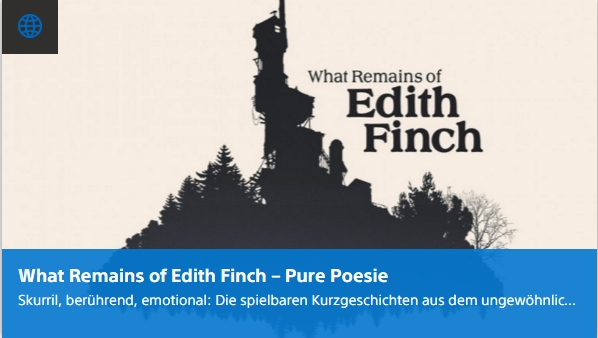Ulrich Wimmeroth - What Remains of Edith Finch - Pure Poesie - Playstation Digi-Tal