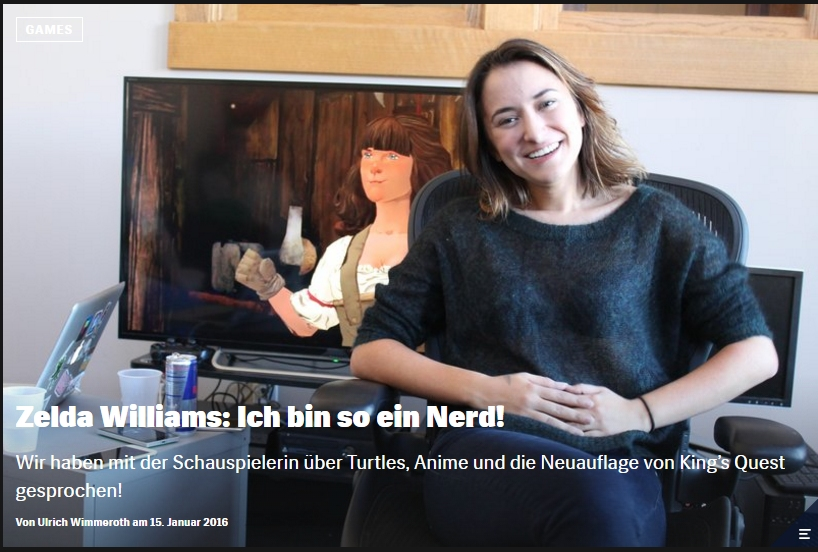 Ulrich Wimmeroth - Zelda Williams - Kings Quest 2015 -Red Bull Games