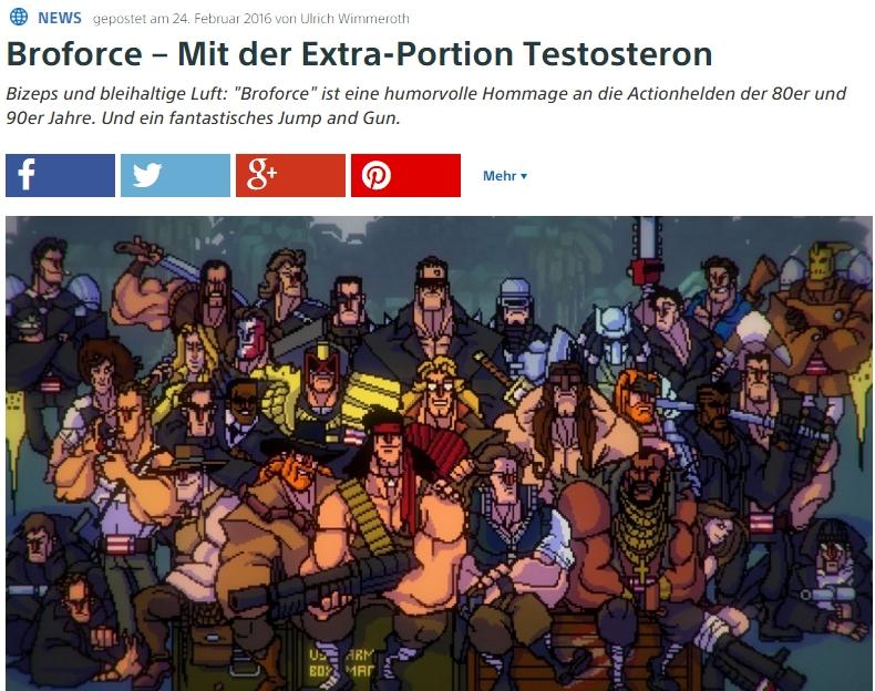 Ulrich Wimmeroth - Broforce - PlayStation Digital