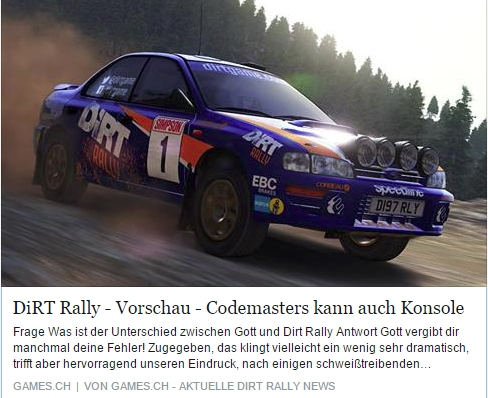Ulrich Wimmeroth - Dirt Rally - games.ch