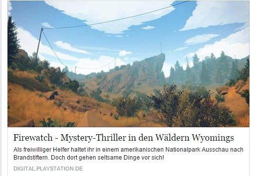 Ulrich Wimmeroth - Firewatch - Playstation Digital