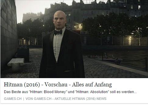 Ulrich Wimmeroth - Hitman Vorschau - Alles auf Anfang - games.ch