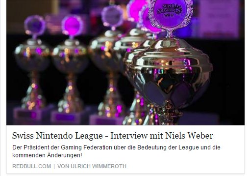 Ulrich Wimmeroth - Interview mit Niels Weber - Swiss Nintendo League -  Red Bull