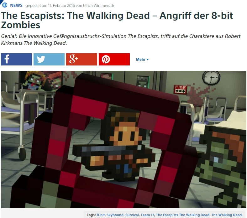Ulrich Wimmeroth - The Escapists - The Walking Dead- Playstation Digital