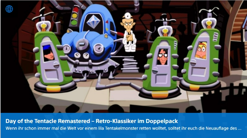 Ulrich Wimmeroth - Day of the Tentacle Remastered - PlayStation Digital