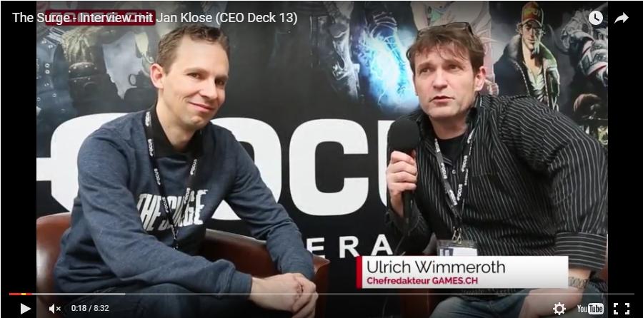 Ulrich Wimmeroth - Interview mit Jan KLose von Deck 13 - The Surge - Video
