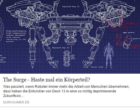 Ulrich Wimmeroth - The Surge - Vorschau - eurogamer.de