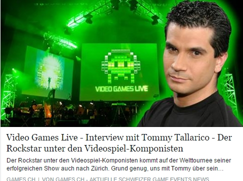 Ulrich Wimmeroth - Video Games Live - Interview mit Tommy Tallarico - games.ch