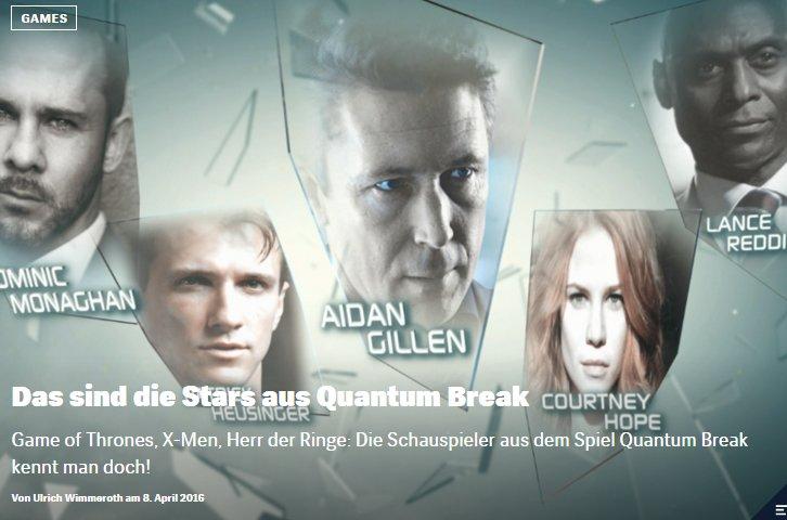 Das sind die Stars aus Quantum Break - Ulrich Wimmeroth - Red Bull Games
