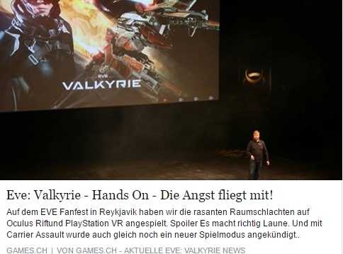 EVE Valkyrie Hands On - Ulrich Wimmeroth - games.ch