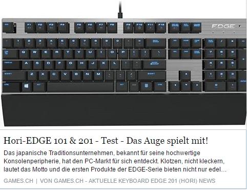 Hori Edge 101 und 201 - Ulrich Wimmeroth - games.ch