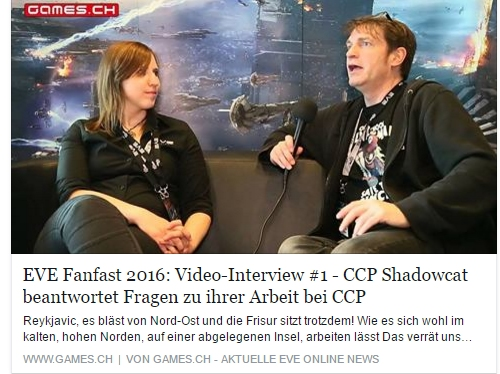 Interview mit CCP Shadowcat - EVE Fanfest 2016 - Ulrich Wimmeroth - games.ch