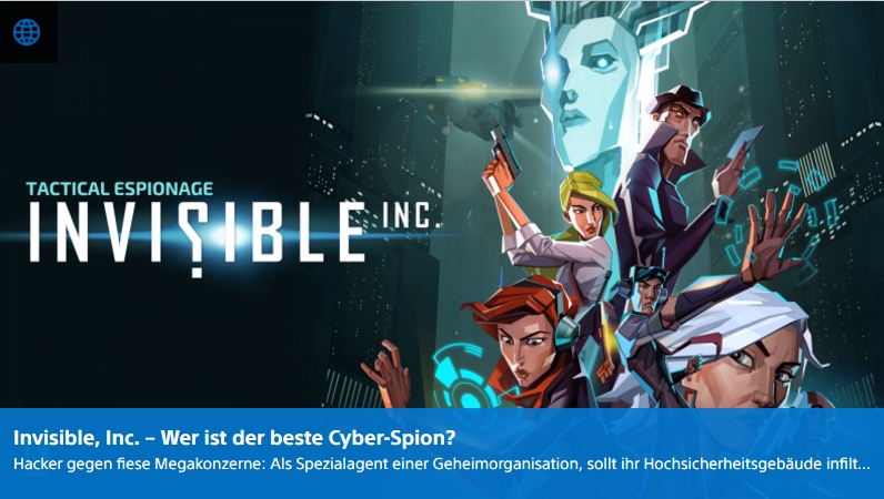 Invisible Inc - Ulrich Wimmeroth - PlayStation Digital