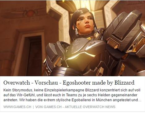 Overwatch - Ulrich Wimmeroth - games.ch