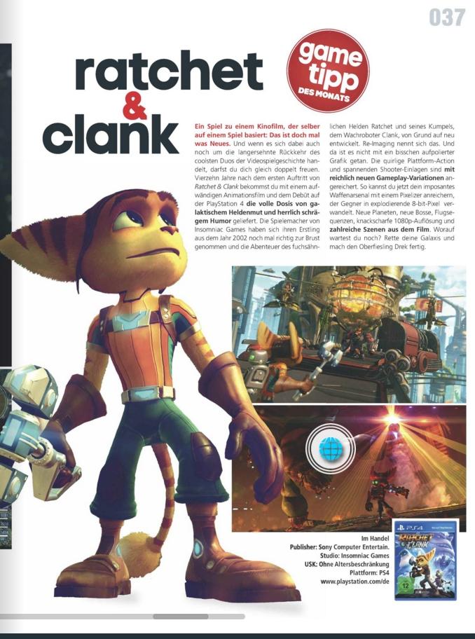 Ratchet und Clank - Kino und Co - Ulrich Wimmeroth