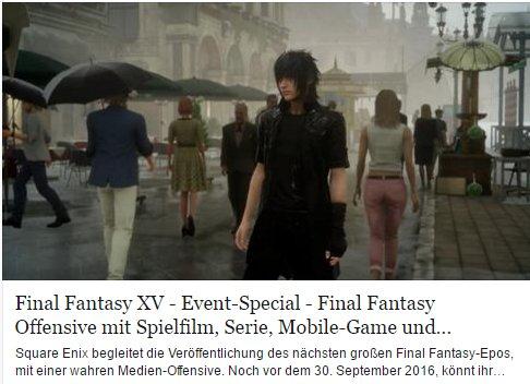Ulrich Wimmeroth - Final Fantasy 15 - games.ch