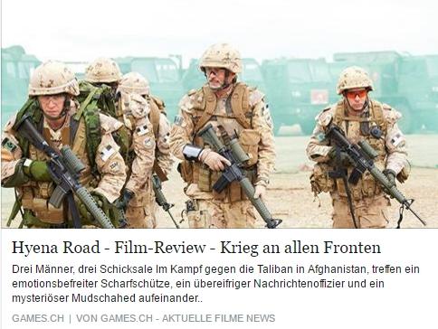 Ulrich Wimmeroth - Hyena Road Filmkritik - games.ch