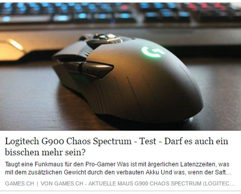 Ulrich Wimmeroth - Logitech G900 Chaos Spectrum - games.ch