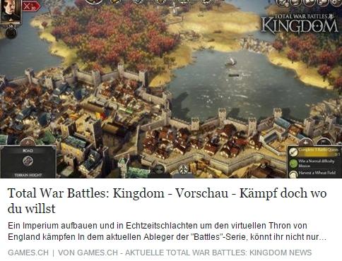 Ulrich Wimmeroth - Total War Battles Kingdom - games.ch