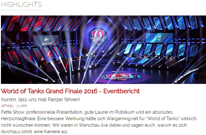 World of Tanks Gand Finale 2016 - Eventbericht - Ulrich Wimmeroth - games.ch