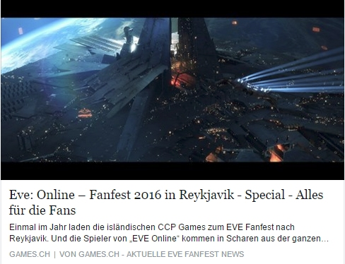 EVE Fanfest 2016 - Alles fuer die Fans - Ulrich Wimmeroth - games.ch