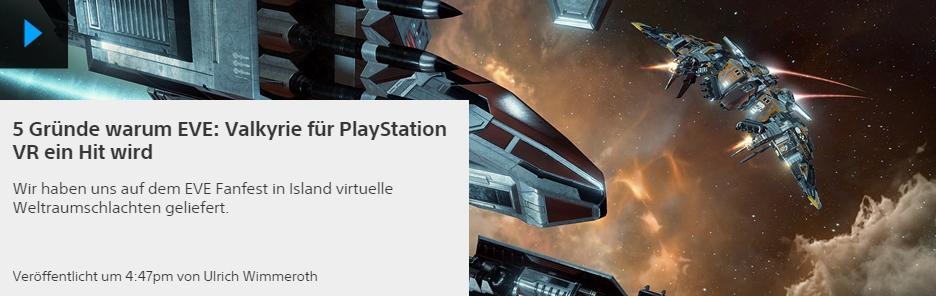 EVE Valkyrie - Ulrich Wimmeroth - 5 Gruende warum EVE Valkyrie fuer die PlayStation ein Hit wird - PlayStation Blog