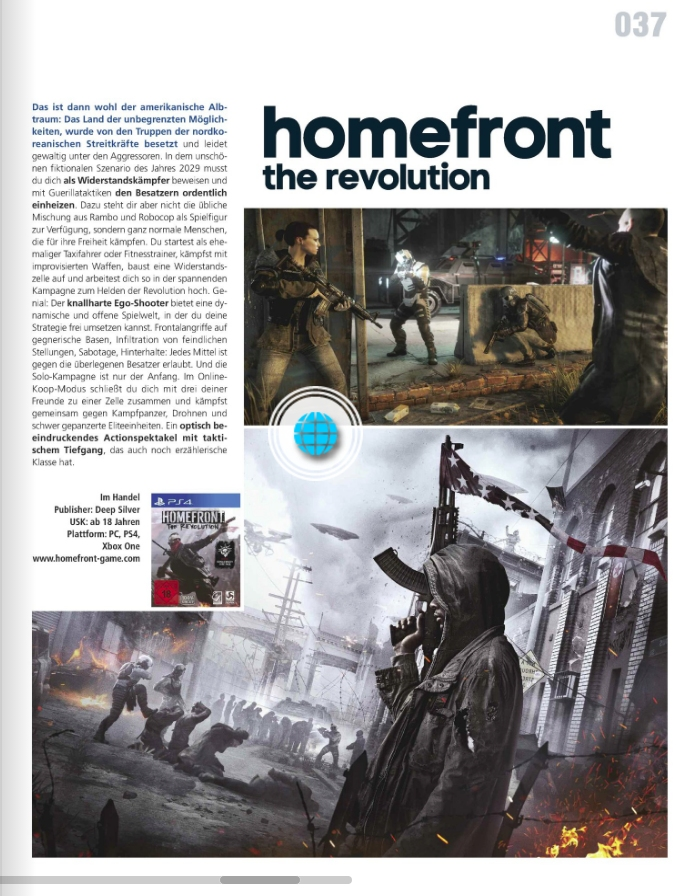 Homefront The Revolution - Ulrich Wimmeroth - Kino und Co