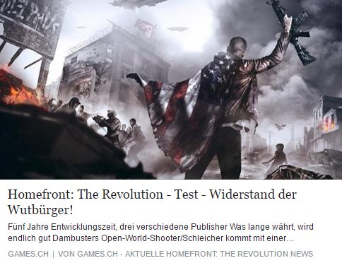 Homefront The Revolution - Ulrich Wimmeroth - Widerstand der Wutbuerger - games.ch