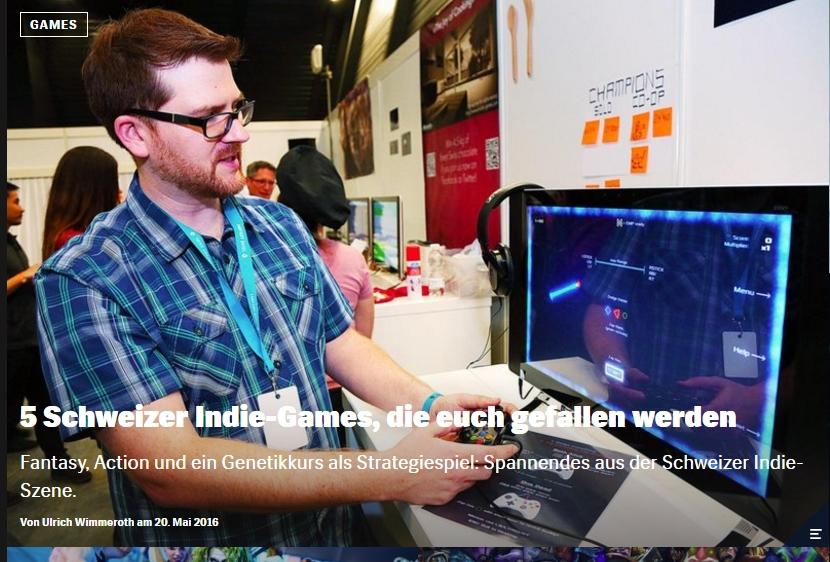 Schweizer Indie Games - Ulrich Wimmeroth - Red Bull Games