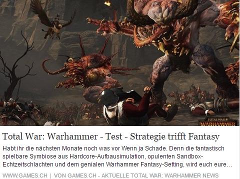 Total War Warhammer - Test - Ulrich Wimmeroth - Games.ch
