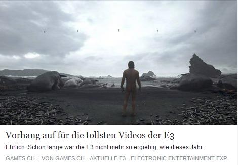 Games.ch - Die besten Trailer der E3 2016 - Ulrich Wimmeroth