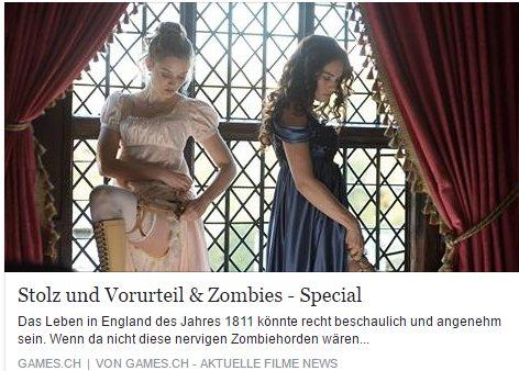 Games.ch - Stolz und Vorurteil und Zombies - Ulrich Wimmeroth