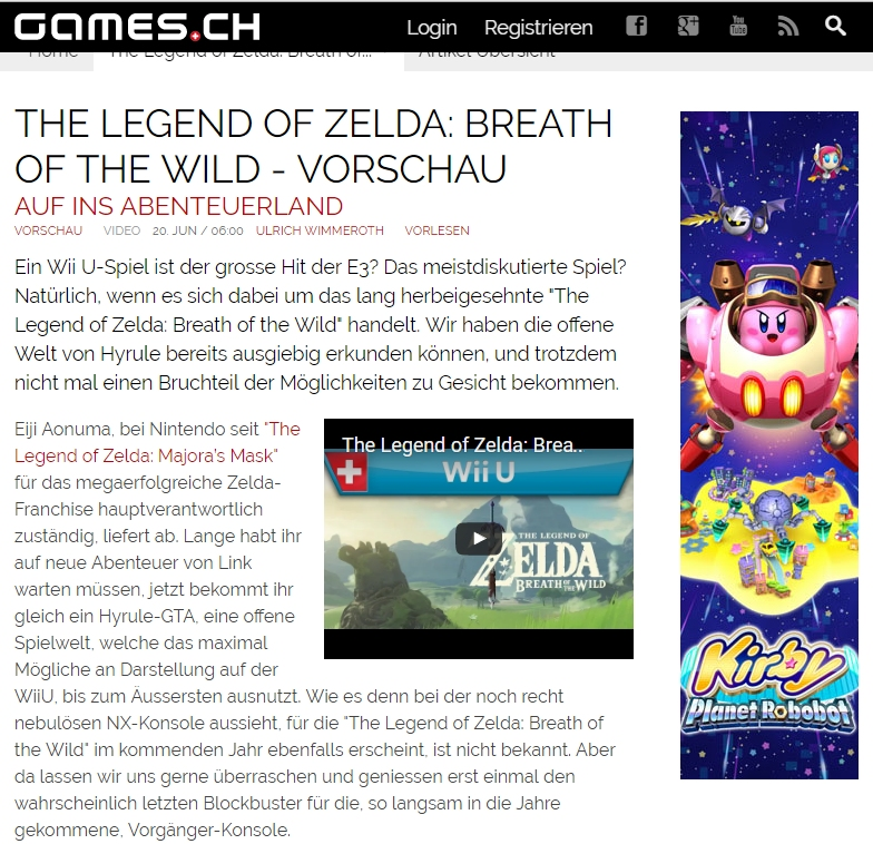 Games.ch - The Legend of Zelda - Breath of the Wild - Ulrich Wimmeroth