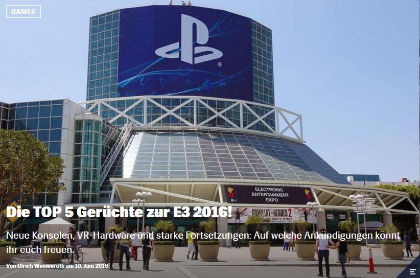 Red Bull Games - Die Top Geruechte zur E3 2016 - Ulrich Wimmeroth
