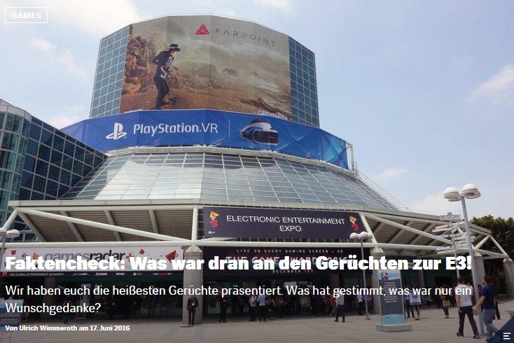 Red Bull Games - Faktenchek Die Top Geruechte zur E3 2016 - Ulrich Wimmeroth