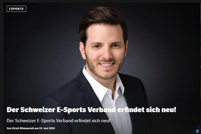 Red Bull Games - Schweizer E-Sports Verband Interview - Ulrich Wimmeroth