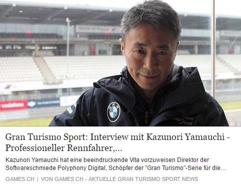 Ulrich Wimmeroth - GT Sport - Interview mit Kazunori Yamauchi - games.ch