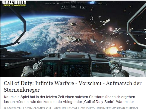Games.ch - Call of Duty Infinite Warfare - Ulrich Wimmeroth