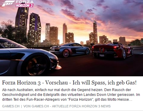Games.ch - Forza Horizon 3 - Ulrich Wimmeroth