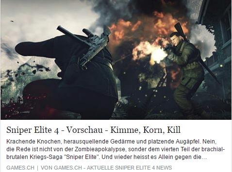 Games.ch - Sniper Elite 4  - Ulrich Wimmeroth